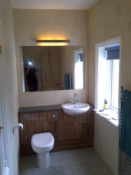 New handbasin and toilet