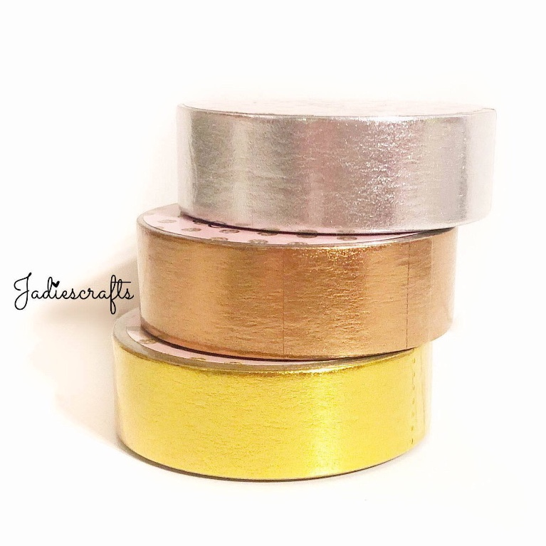 Silver, Rose Gold & Gold Foil Washi Tape
