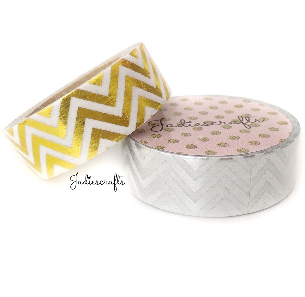Silver & Gold Foil Chevron Washi Tape