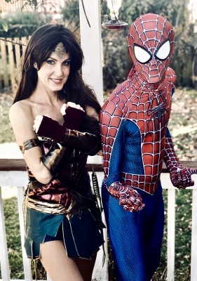 Wonder Woman Spiderman Batman Supergirl Poison Ivy Superman Cat Woman DC VA Party