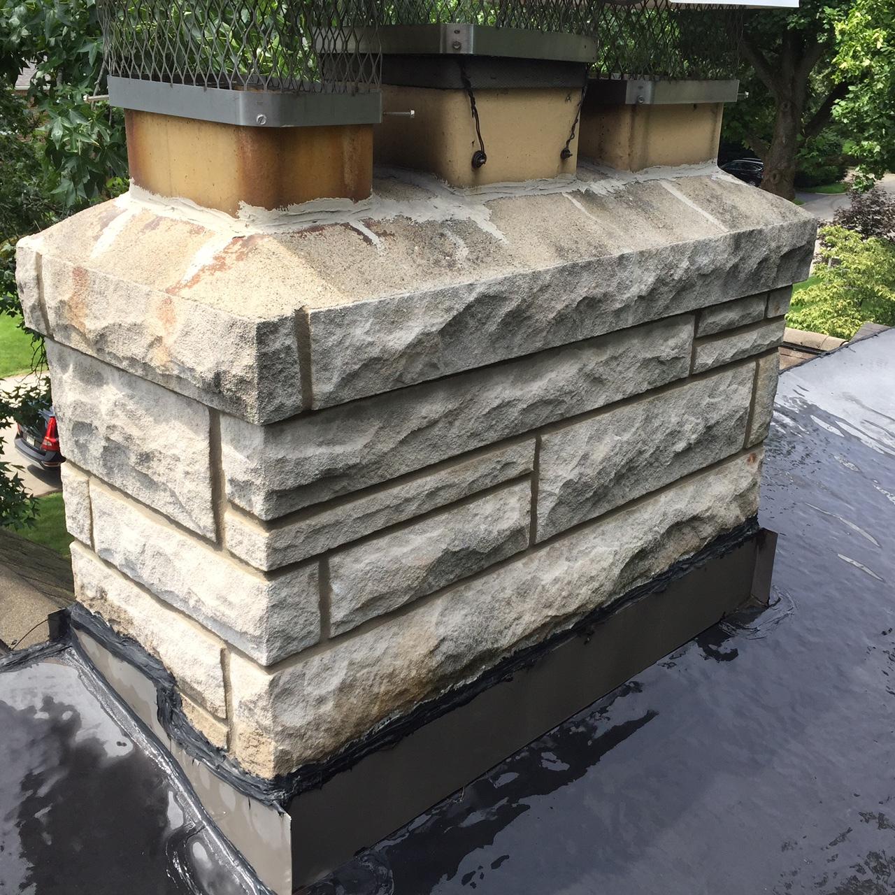stone chimney rebuild and repair