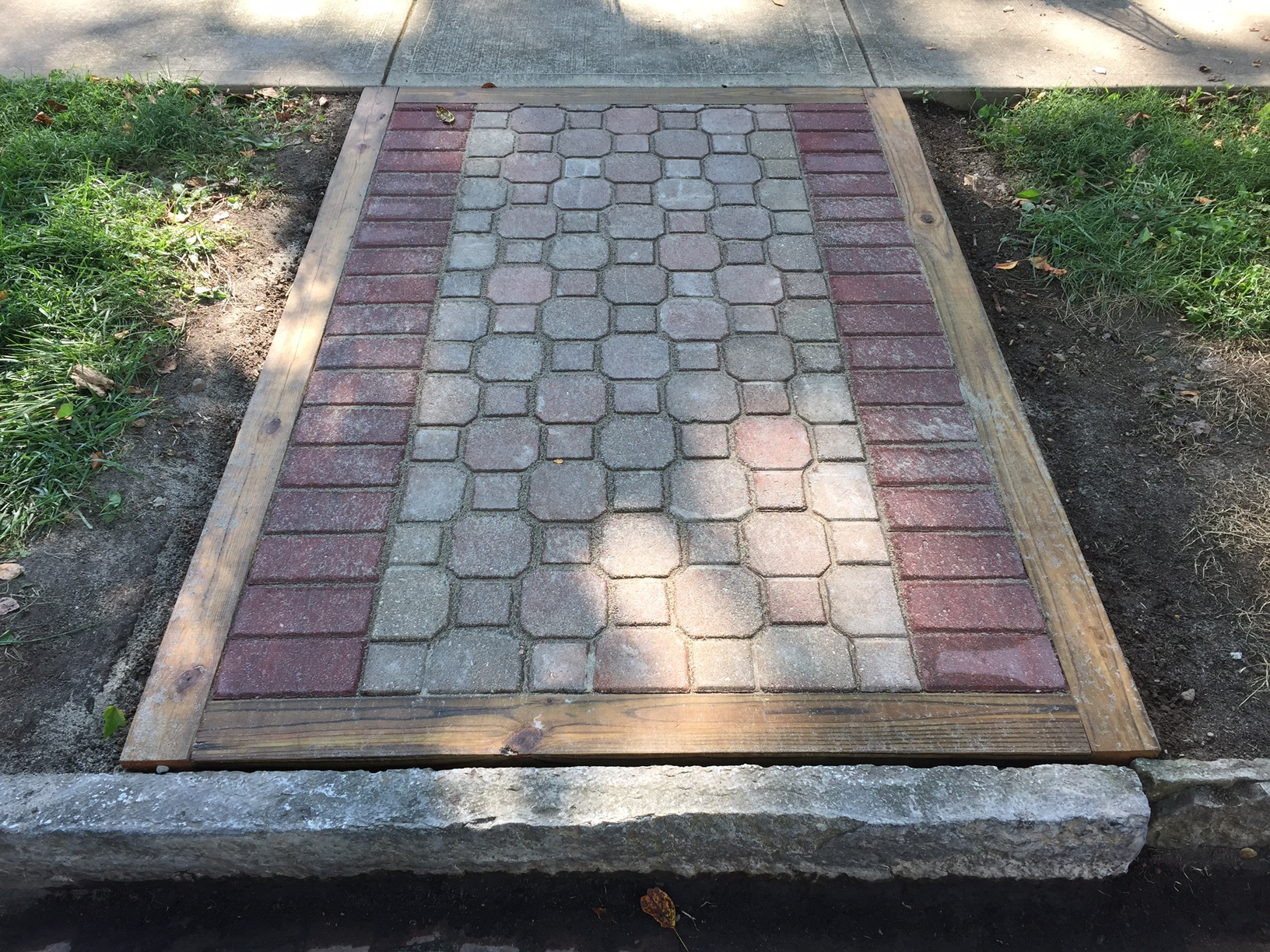 Brick Stone Sidewalks