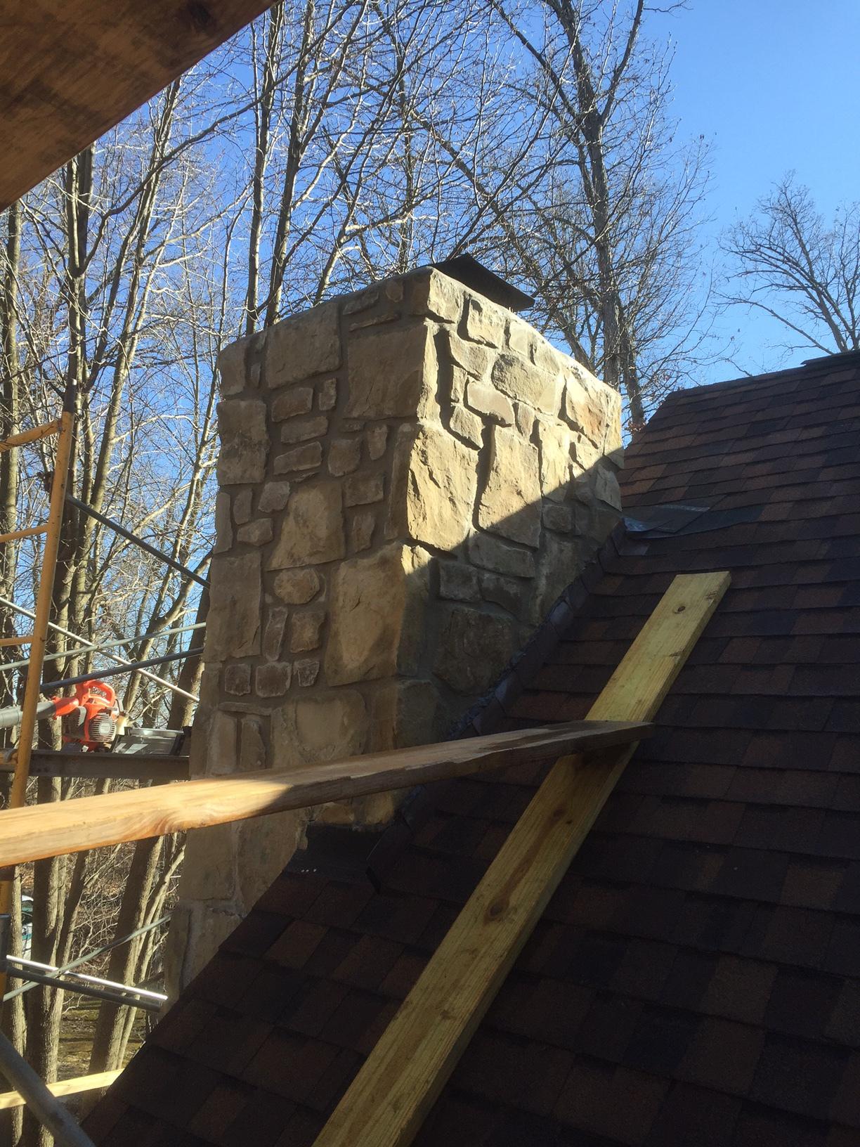 Masonry Stone Chimney