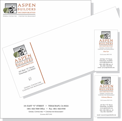Offset Printing, 3-Color Letterhead, Enveope and Business Card