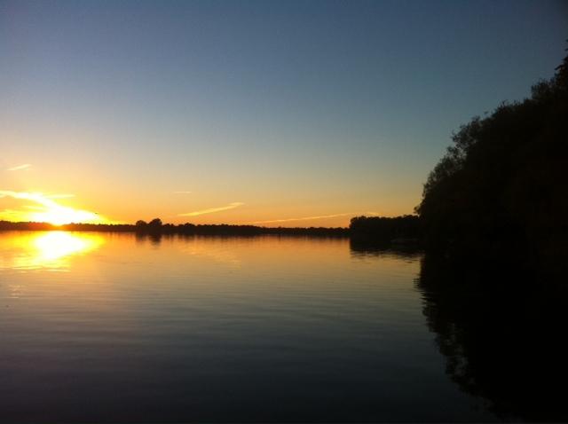 Sunset on Mississippi