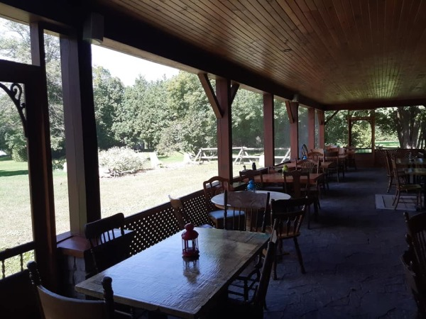 Outdoor Screened Dining