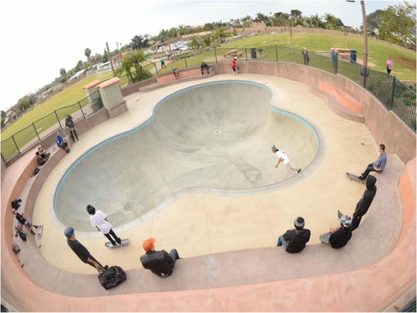 Encinitas Skate Plaza at Gateway Plaza Exit the 5 freeway and Santa Fe Road