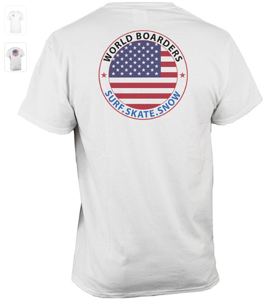 World Boarders USA Apparel