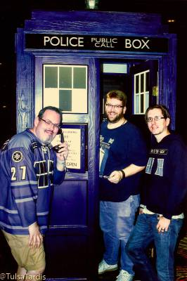Flying the TARDIS at BritishFest in 2014