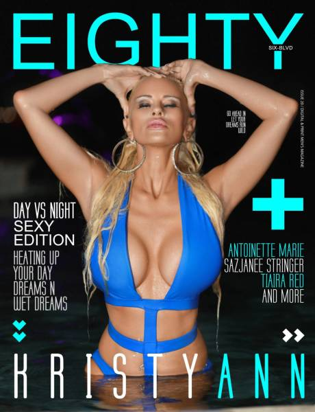 Eighty6 blvd magazine- DAY VS NIGHT EDITION ( KRISTY BLUE OUTFIT COV