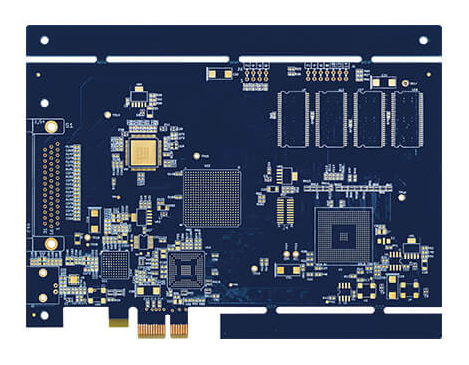 8L Blue Soldermask PCB