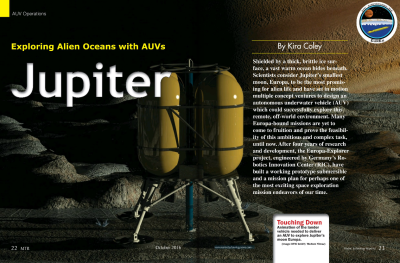 Exploring Alien Oceans with AUVs