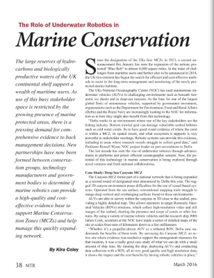 The Role of Underwater Robotics in Marine Conservation