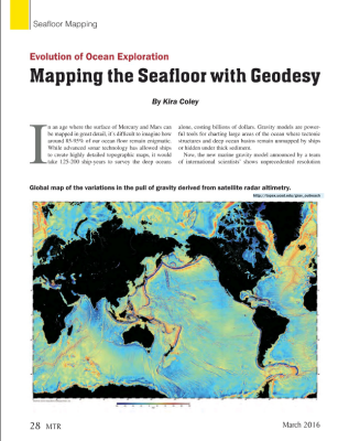 Evolution of Ocean Exploration: Mapping the Seafloor with Geodesy