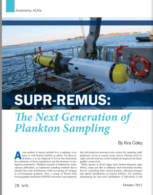 SUPR-REMUS - The Next Generation of Plankton Sampling