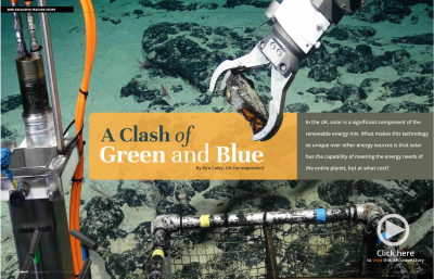 A Clash of Green and Blue
