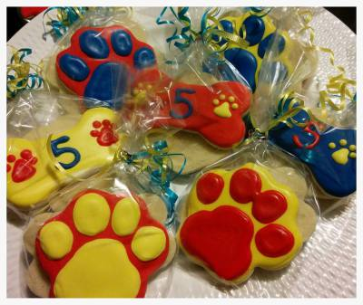 Paw Patrol Cookie Favors