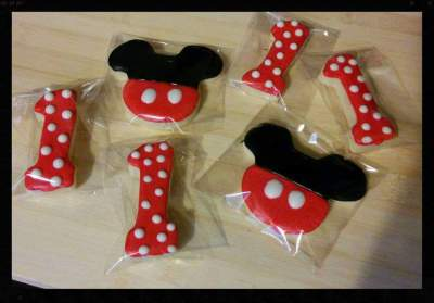 Mickey Mouse & #1 Cookie Favors
