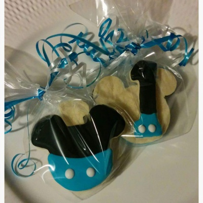 Mickey Mouse in BLUE with #1 Cookie Favors