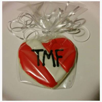 Custom Heart with Monogram Initials TMF Cookie Favors