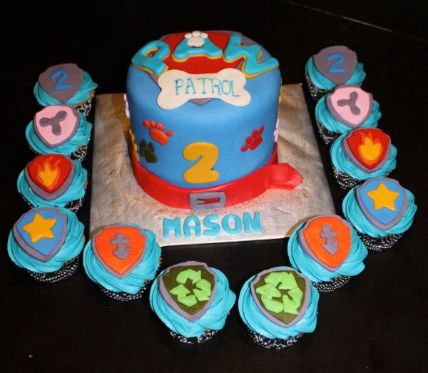 Paw Patrol Custom Cupcakes with Fondant Detail