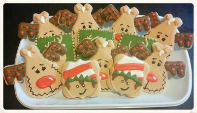 Elf Reindeer & Deer Holiday Cookies for Photographer