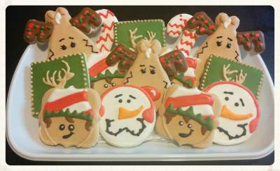 Reindeer, Elf, Deer & Candy Cane Holiday Platter Cookies for Photographer