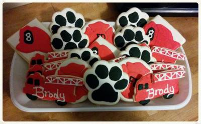 Fireman Cookie Platter for Brody