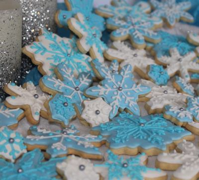 Snowflake Custom Cookies by Talent 2 Design