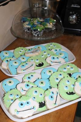 Monster Cookies Round #2 for Little Guys 1st Birthday