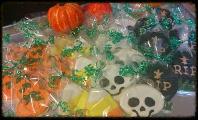 Custom Halloween Cookie Favors