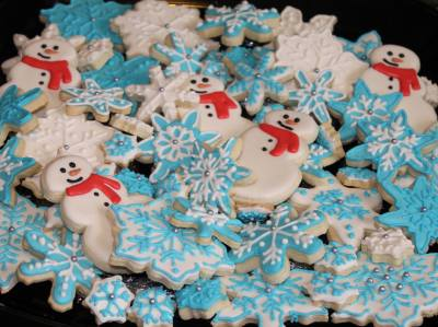 Toy Drive Donation Platter #1 Holiday Cookies