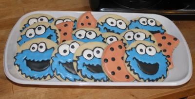 Cookie Monster Platter Style Cookies