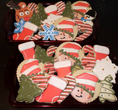 Elf, Stocking, Candy Cane, Rudolph, Snowflake, Xmas Tree Custom Cookie Platters