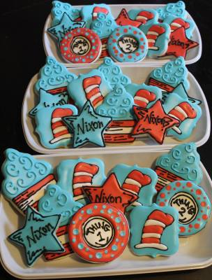 Dr Seus Custom Cookie Platters