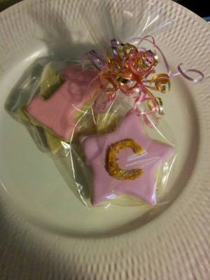 "Monogram ""C"" with #1 Cookie Favors"