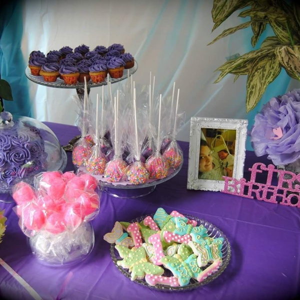 1st Birthday Butterfly Party Sweets & Treats Table