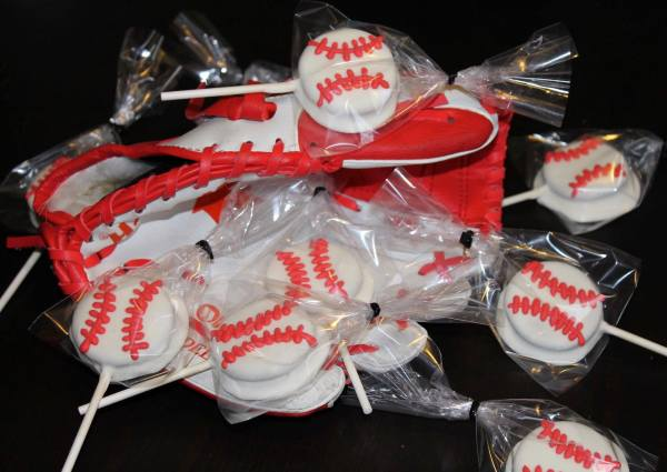 Baseball Cookie Pops