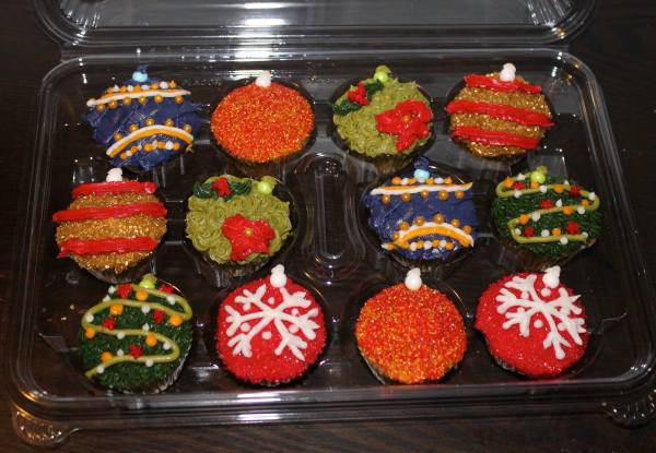 Mini Custom Ornament Cupcakes