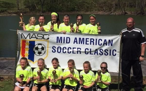 U10 Girls Mid-American Soccer Classic Champs!