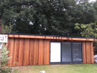 A stunning Garden room Gym & storage room designed by Harrison James Ltd. Many years of build skills were attained by our team during time spent with Harrison James. Now moving on we are able to bring these skills with us to offer similar stunning projects for your home.