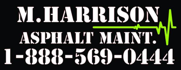 M.Harrison Asphalt Maintenance 1-888-569-0444 www.mhasphalt.com