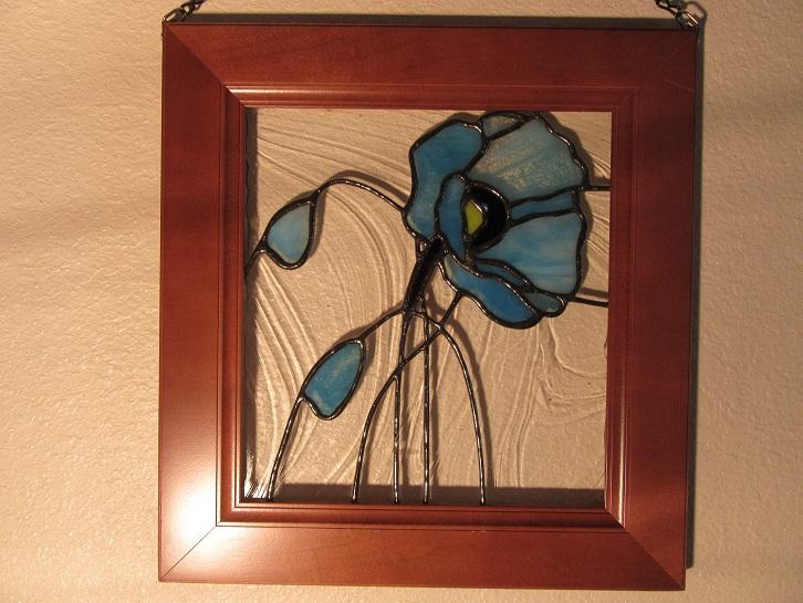 Blue Poppy Panel