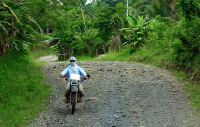 Motorbike tour from Mount Apo near Davao