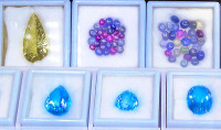 gems and blue gemstones