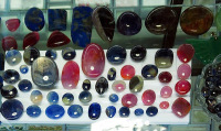loose ruby and sapphire cabochons