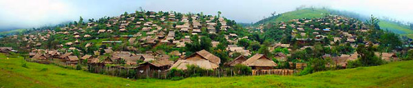 Mae La Karen Refugee village before north of Umphang