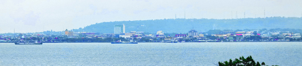 Davao City Waterfront view from Samal Island.