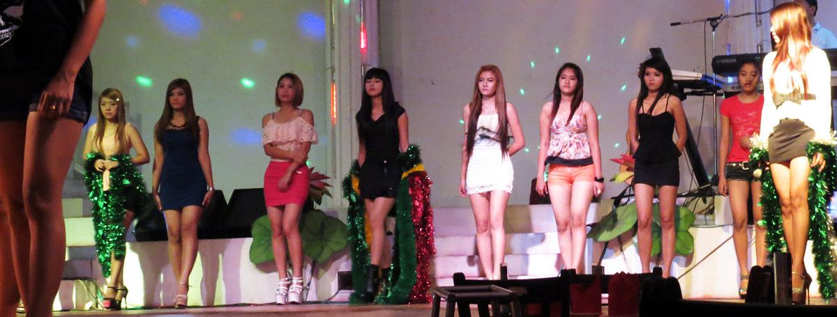 Nightclub show at Powerlight Rangoon