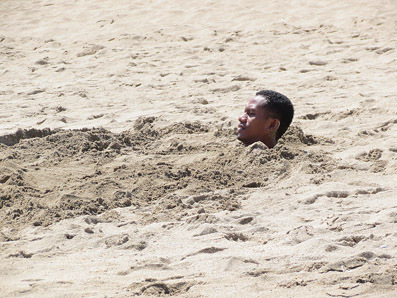 Buried in an ASEAN beach